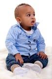 Aanbiddelijke Afrikaanse Amerikaanse baby Stock Fotografie