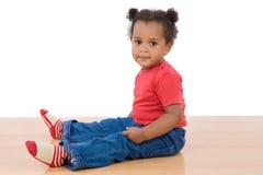 Aanbiddelijke Afrikaanse baby Stock Fotografie