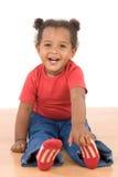 Aanbiddelijke Afrikaanse baby Royalty-vrije Stock Afbeeldingen