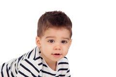 Aanbiddelijke baby negen maanden Royalty-vrije Stock Foto