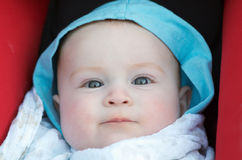 Aanbiddelijke babyjongen Stock Foto's