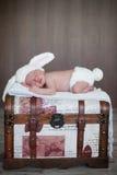 Aanbiddelijke babyjongen, het slapen Stock Foto