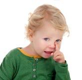 Aanbiddelijke blonde baby Royalty-vrije Stock Foto