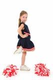 Aanbiddelijke Cheerleader Stock Foto's