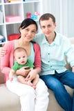 Aanbiddelijke familie Royalty-vrije Stock Afbeelding