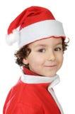 Aanbiddelijke jongen in Kerstmis royalty-vrije stock afbeeldingen