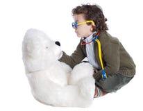 Aanbiddelijke kind arts Stock Foto's