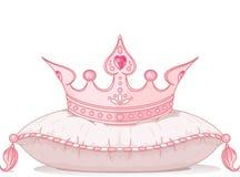 Kroon op het hoofdkussen Royalty-vrije Stock Fotografie