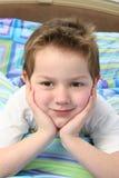 Aanbiddelijke Oude Jongen Van vijf jaar Royalty-vrije Stock Foto