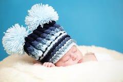Aanbiddelijke pasgeboren Stock Foto