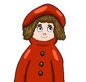 Aanbiddelijke Rode Berijdende Kap royalty-vrije illustratie