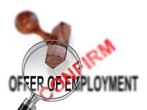 Aanbieding van werkgelegenheid - bevestig royalty-vrije stock fotografie