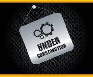 In aanbouw achtergrond stock illustratie