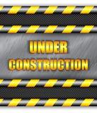 In aanbouw achtergrond met exemplaarruimte Stock Fotografie