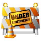 In aanbouw barrière. stock illustratie