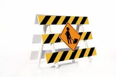 In aanbouw barrière Stock Foto