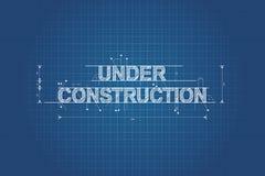 In aanbouw blauwdruk, technische tekening Stock Afbeelding