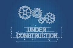 In aanbouw blauwdruk, technische tekening Royalty-vrije Stock Afbeeldingen