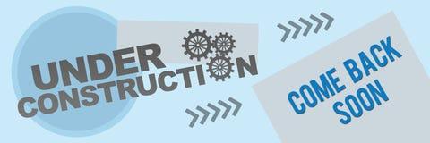 In aanbouw de Banner van de Nettextuur Royalty-vrije Stock Foto