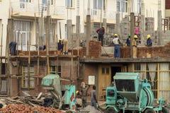In aanbouw het inbouwen van Afrika Stock Foto's