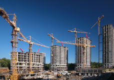 In aanbouw huizen Royalty-vrije Stock Fotografie