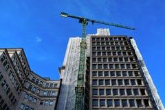 In aanbouw inbouwend de stadscentrum van Birmingham Stock Foto
