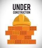 In aanbouw ontwerp Stock Foto