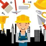 In aanbouw ontwerp Stock Afbeeldingen
