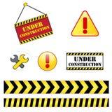 In aanbouw pictogramreeks vector illustratie