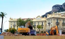In aanbouw plaats in Monte Carlo Royalty-vrije Stock Foto's