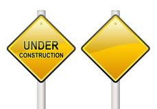 In aanbouw teken vector illustratie