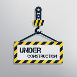 In aanbouw Teken Stock Foto's