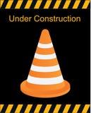In aanbouw teken, de vector van verkeerskegels, verkeersvector Stock Fotografie