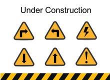 In aanbouw tekens, verkeersvector, in aanbouw vector Royalty-vrije Stock Fotografie