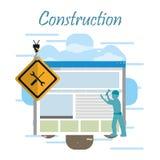 In aanbouw website vector illustratie