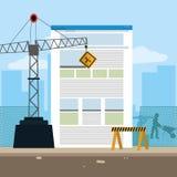 In aanbouw website royalty-vrije illustratie