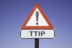 Aandacht TTIP Stock Afbeelding