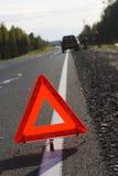 Aandacht, verkeersongeval! Royalty-vrije Stock Foto's