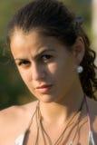 Aandachtig gezicht van het meisje Stock Afbeeldingen