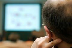 Aandachtige luisteraar op conferentie Royalty-vrije Stock Afbeeldingen
