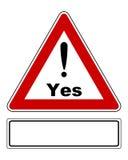 Aandachtsteken ja met uitroepteken en toegevoegd teken royalty-vrije illustratie
