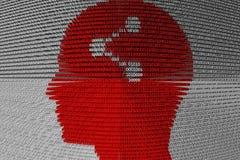 AANDEEL in de vorm van binaire code, 3D illustratie Royalty-vrije Stock Afbeeldingen