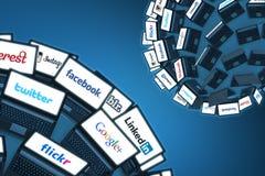 Aandeel met Sociale netwerken Stock Fotografie