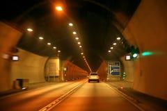 Aandrijving in tunnel Stock Afbeelding