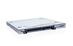 Aandrijving in vaste toestand die SSD op witte achtergrond wordt geïsoleerd Stock Afbeelding