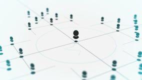 Aaneenschakelingsentiteiten Netwerktechnologie, het voorzien van een netwerkinformatie van Webgegevens, sociale media, Internet-c stock illustratie