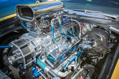 Aangepaste getoonde spiermotor van een auto Royalty-vrije Stock Foto