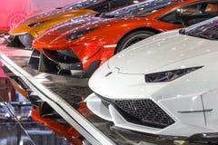 Aangepaste Lamborghini-auto's royalty-vrije stock afbeeldingen