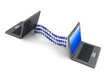 Aangesloten laptops Royalty-vrije Stock Afbeeldingen