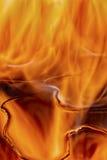 Aangestoken branden feul, brand, vlammen Royalty-vrije Stock Afbeeldingen